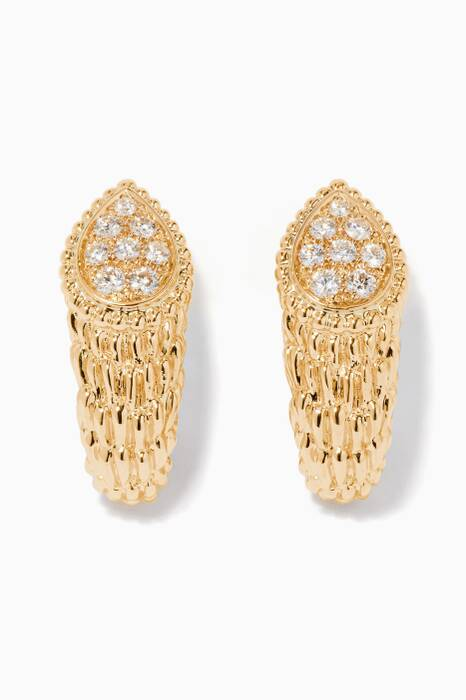 Yellow-Gold Serpent Boheme Clip Earrings