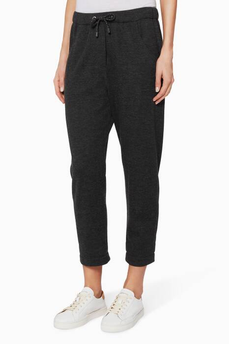 Dark-Grey Cashmere Track-Pants