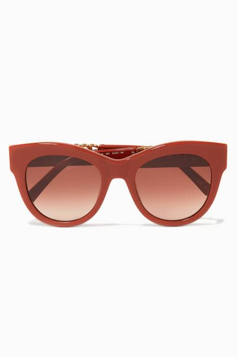 Red Clay Cat-Eye Falabella Sunglasses