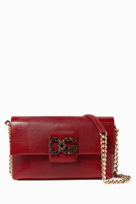 Red Small Iguana Millennials Shoulder Bag