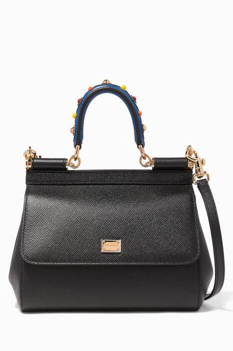Black Small Dauphine Leather Miss Sicily Bag