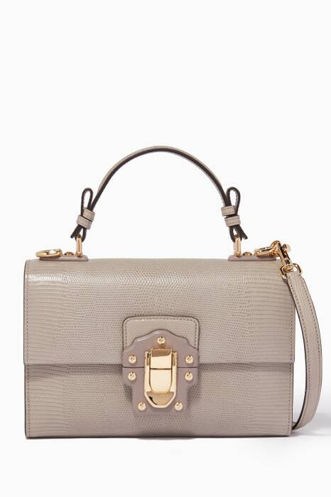 Light-Grey Lucia Top-Handle Bag