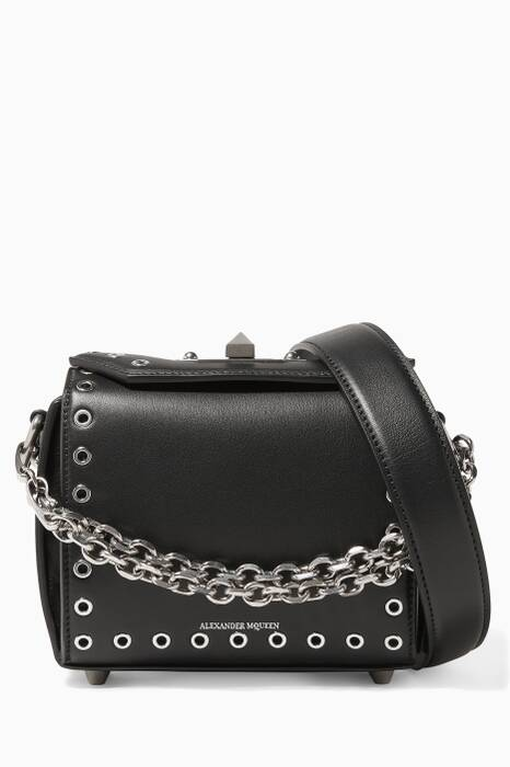Black 16 Small Eyelet Box Bag