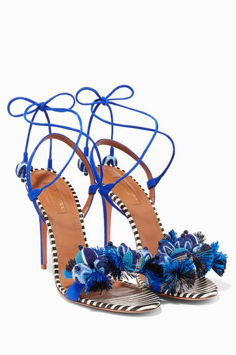 Blue Tropicana High Heel Sandals