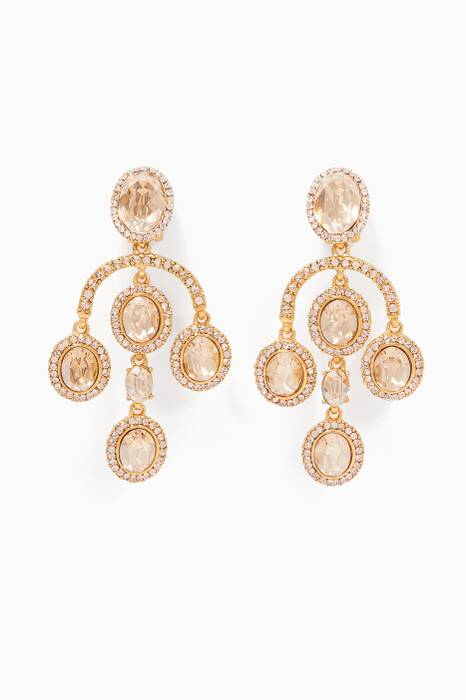 Gold Pavé Crystal Small Chandelier Earrings
