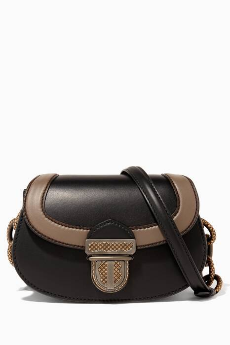 Black Umbria Leather Shoulder Bag