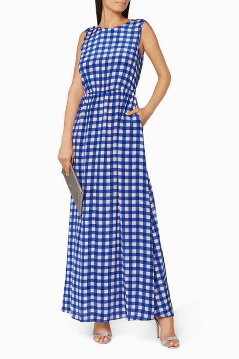 Klein Blue Large Cossier-Print Maxi Dress