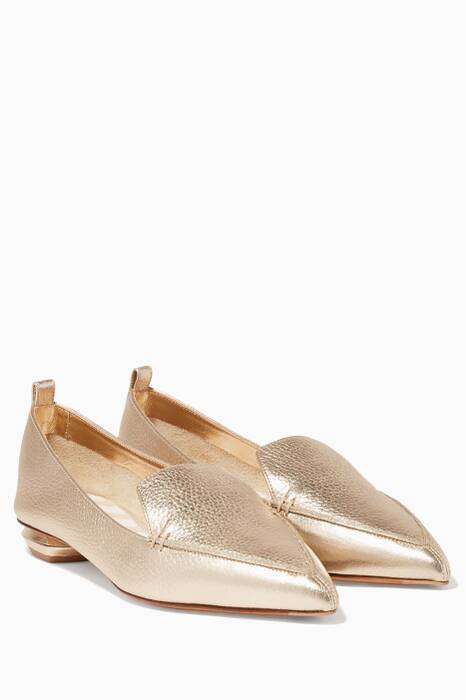 Metallic-Gold Beya Loafers