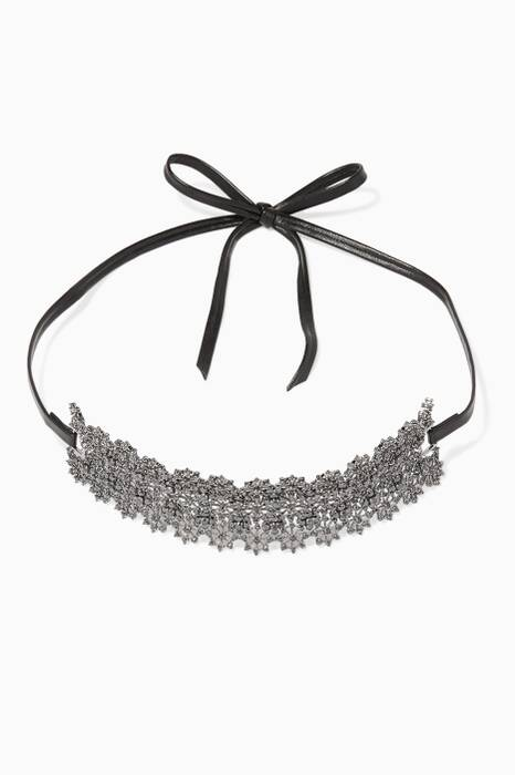 Black Monarch Chantilly Wrap Choker