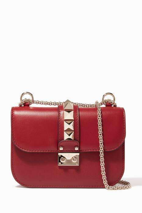 Red Small Lock Shoulder Bag