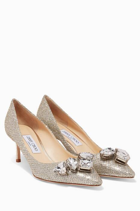Champagne Glitter Marvel Pumps