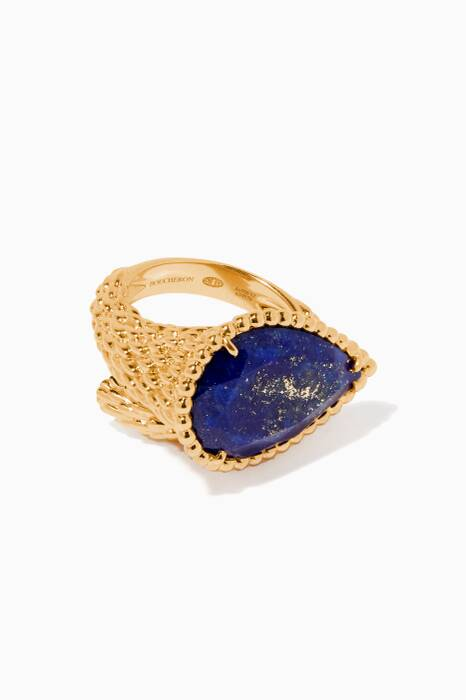 Yellow-Gold & Lapis Lazuli Serpent Bohème Ring