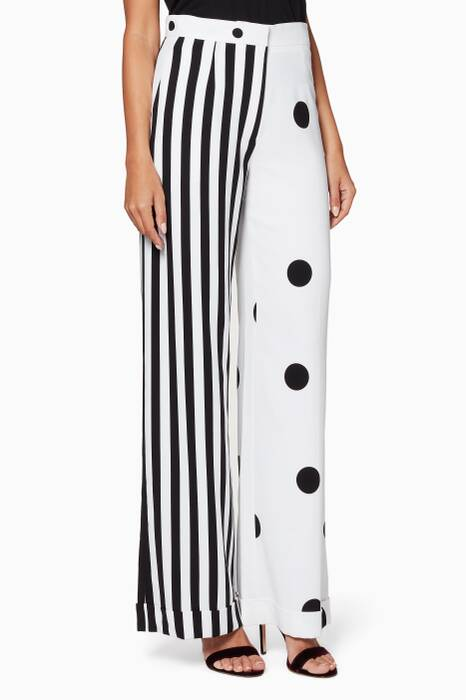 Monochrome Spots & Stripes Pants