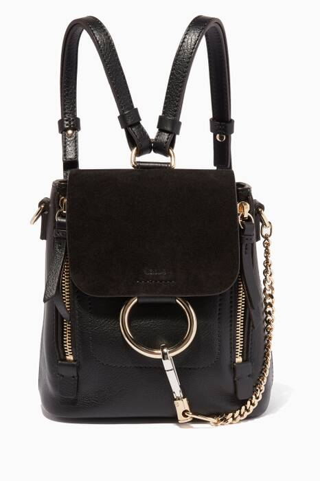 Black Mini Faye Suede Backpack