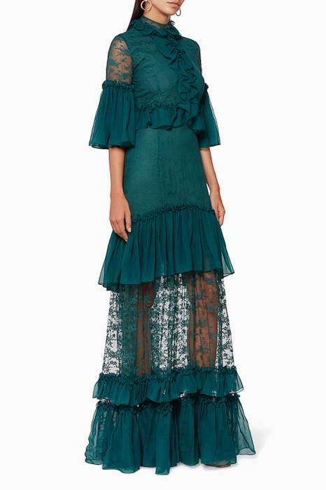 Emerald Ruffle Dress