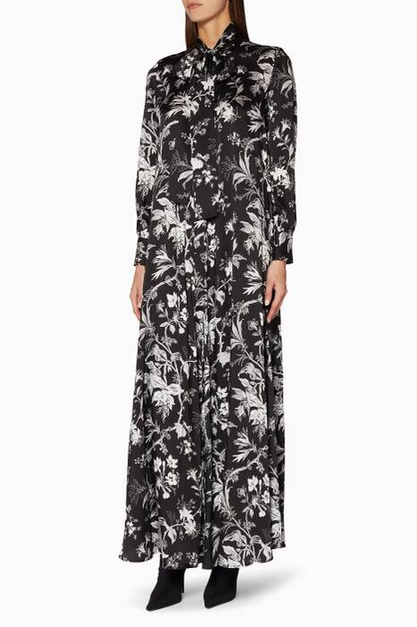 Black Soho Floral Maxi Dress