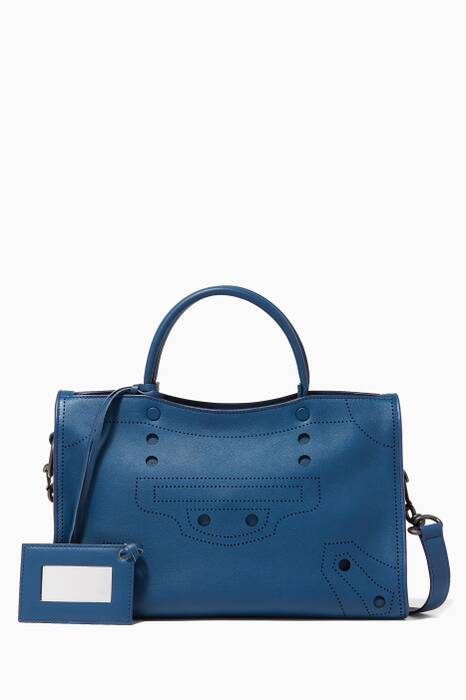 Midnight-Blue Small Blackout City Tote Bag