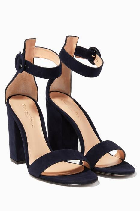 Navy Versilia Suede Sandals