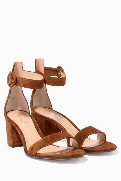 Almond Brown Versilia Suede Sandals