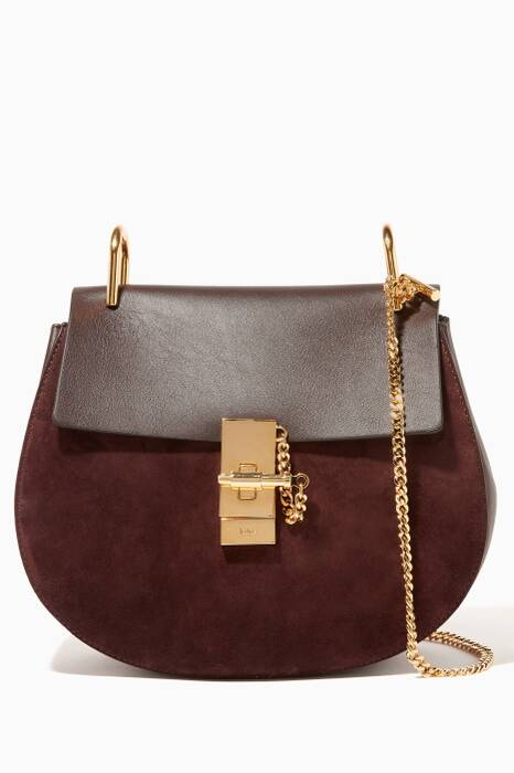 Carbon Brown Small Drew Shoulder Bag