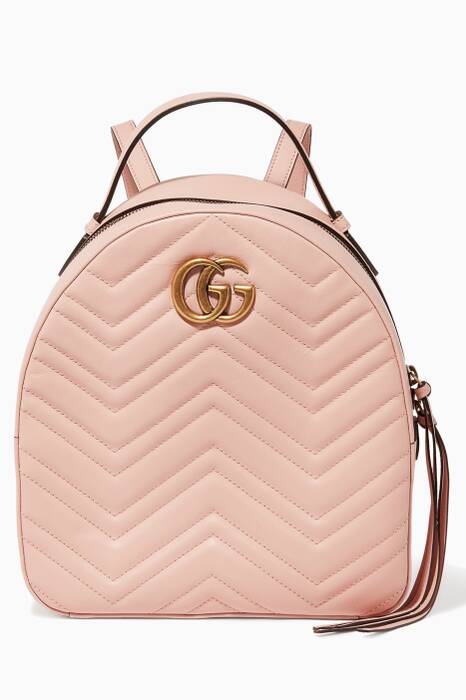 Light-Pink GG Marmont Quilted Leather Backpack