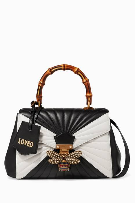Monochrome Queen Margaret Quilted Shoulder Bag