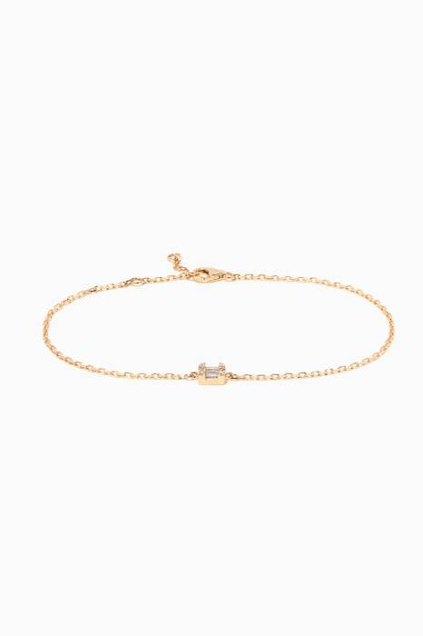 Yellow-Gold & Diamonds Rectangle Bracelet