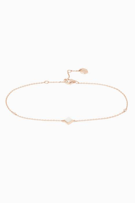Rose-Gold, White Agate & Diamond Cleo Anklet