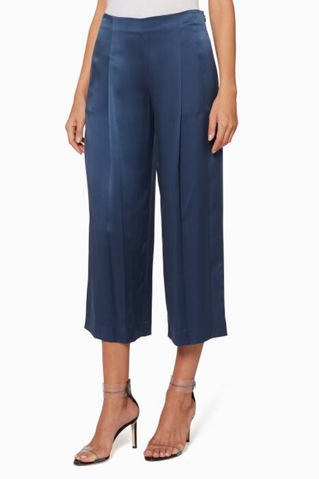 Dark-Blue Zavabell Flared Pants