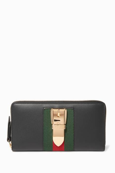 Black Sylvie Moon Zip Around Wallet