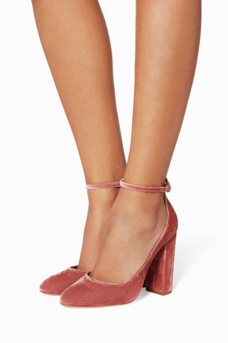 Rose Alix Velvet Pumps