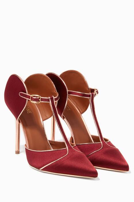 Red Satin Imogen Mules