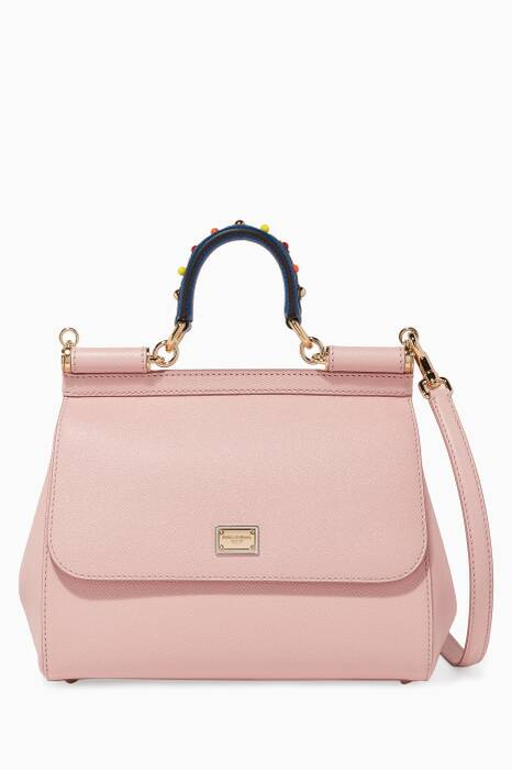 Pink Dauphine Medium Sicily Top-Handle Bag