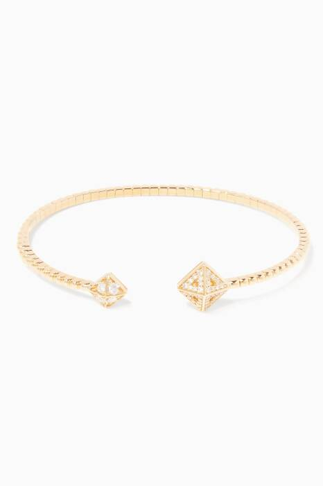 Yellow-Gold Extra-Small Astrid Cube Bracelet