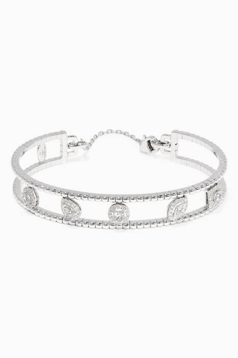 White-Gold & Diamond Rock Candy Bangle