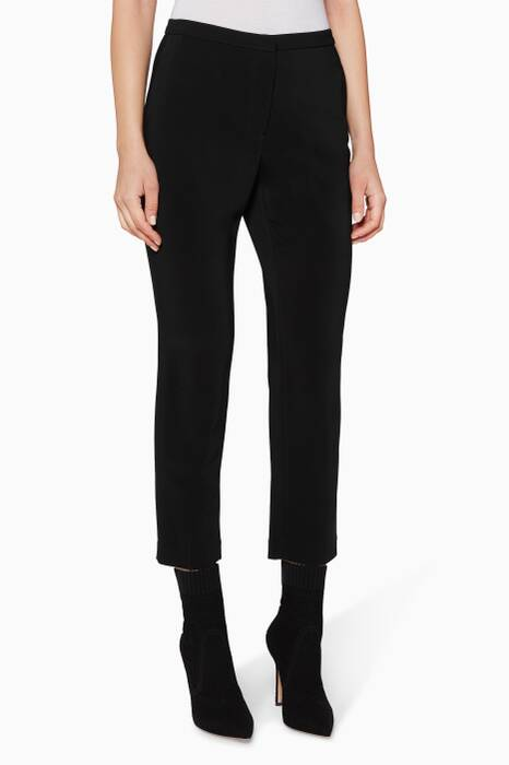 Black Cropped Skinny Pants