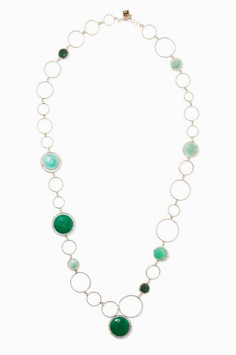 Gold & Green Raggio Necklace