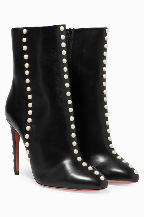 Black Follie Claf Pearl Booties