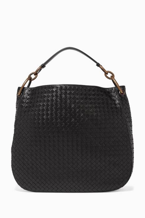 Black Intrecciato Shoulder Bag