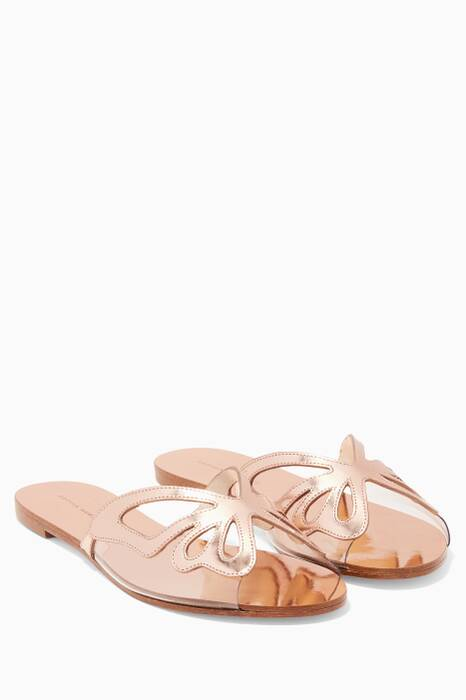Rose-Gold Madame Butterfly Slides