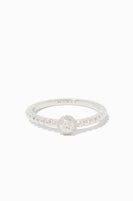 White-Gold Rock Candy Ring