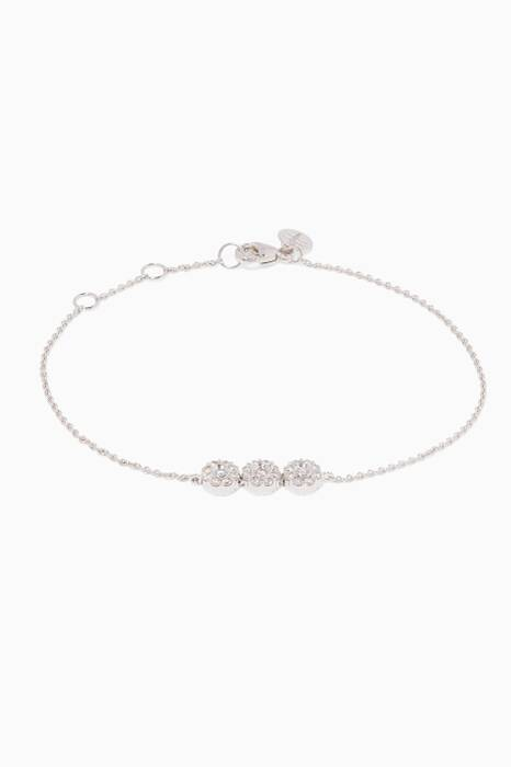White-Gold & Diamond Flower Bracelet