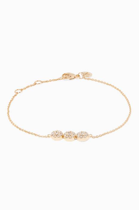 Yellow-Gold & Diamond Flower Bracelet