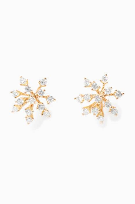Yellow-Gold & Diamond Luminus Earrings