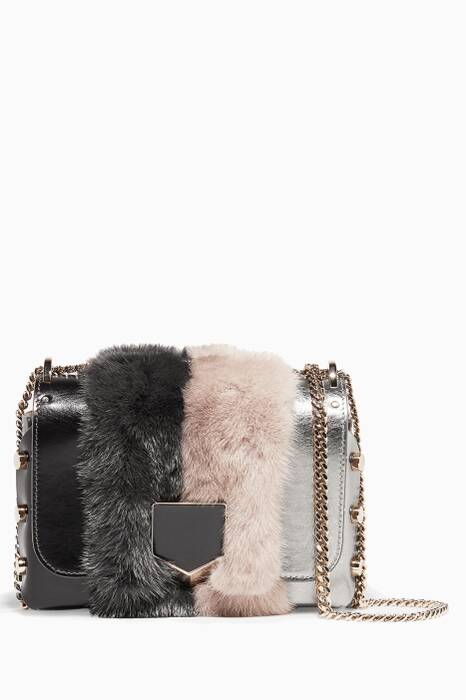 Silver & Mink Fur Lockett Petite Shoulder Bag