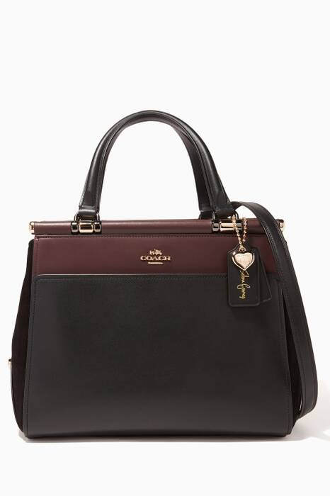 Black Cherry Coach X Selena Gomez Grace Bag