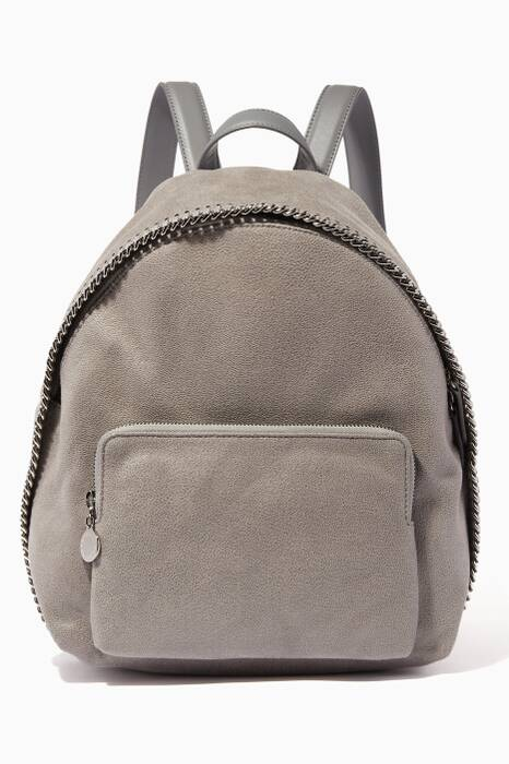 Grey Mini Shaggy Deer Backpack