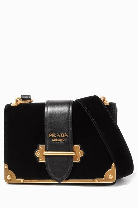 Black Velvet Cahier Shoulder Bag
