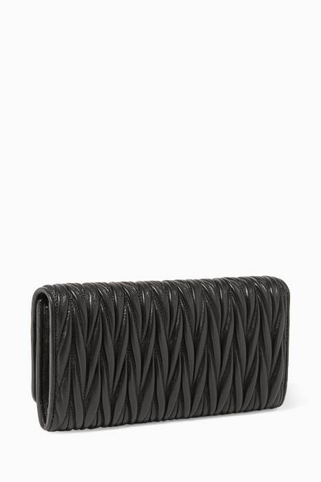 Black Matelassé-Leather Wallet