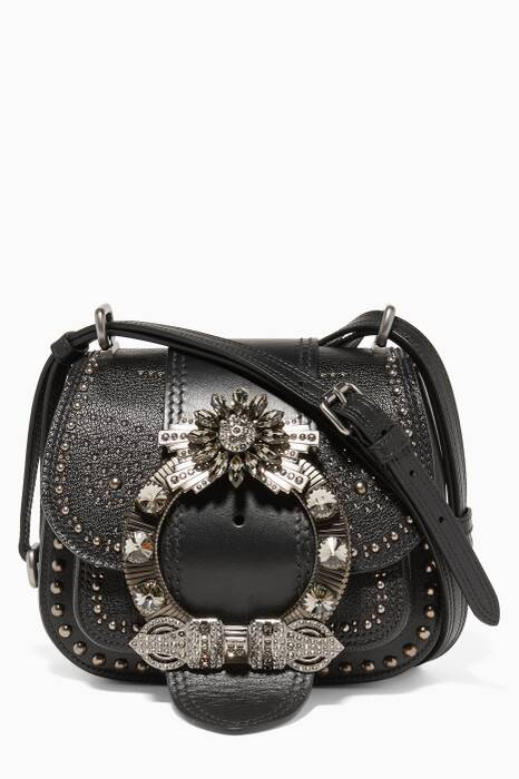 Black Dahlia Crystal Embellished Crossbody Bag